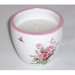 Žvakė su keramikiniu indeliu